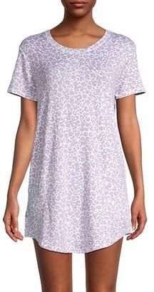 Kensie Printed Short-Sleeve Nightshirt