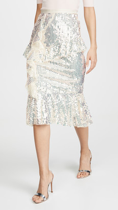 Needle & Thread Scarlett Sequin Midaxi Skirt