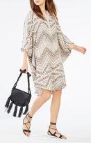 BCBGMAXAZRIA Stela Geometric Print Tunic Dress