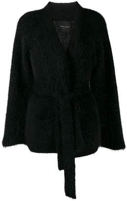 Roberto Collina ribbed belted cardigan