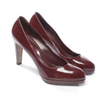 Sergio Rossi Burgundy Patent leather Heels
