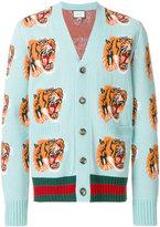 Gucci tiger jacquard cardigan