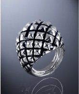 silver pyramid stud dome ring