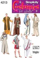 Simplicity Sewing Pattern 4213 Adult Costumes, A (X-Small - Small - Medium - Large - X-Large)
