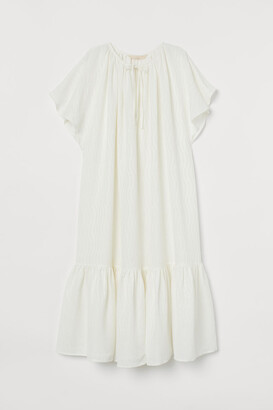H&M Silk-blend Dress - White