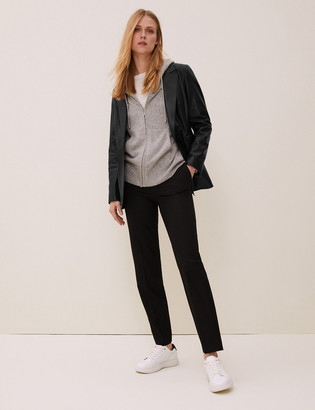 Marks and Spencer Leather Single Breasted Blazer