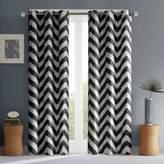 Intelligent Design Libra 84-Inch Room-Darkening Grommet Top Window Curtain Panel Pair in Black
