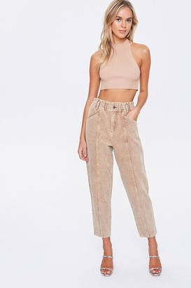 Forever 21 Corduroy Paperbag Pants