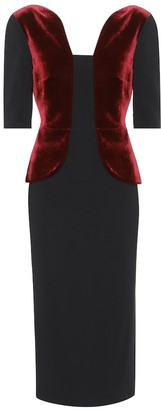 Roland Mouret Exclusive to mytheresa.com Comberton velvet and crepe dress