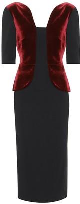 Roland Mouret Exclusive to mytheresa.com Comberton velvet and crepe dress