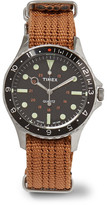 Timex Navi Harbor Stainless Steel And Webbing Watch - Tan