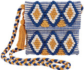 San Diego Hat Company Women's Handbags BLUE - Blue & Yellow Ikat Tassel Shoulder Bag