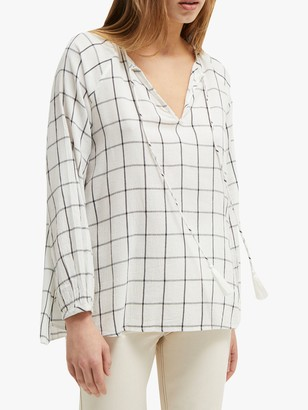 French Connection Canthemis Blouse, Summer White