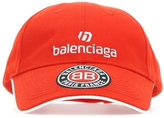 Balenciaga Logo Embroidered Soccer Cap