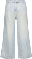 Current/Elliott The Cropped Neat mid-rise wide-leg jeans