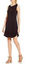 M.S.S.P. Ruffled Hem Knit Jersey Dress