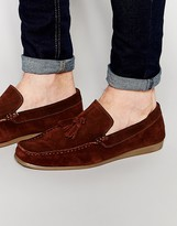 Frank Wright Loafer In Brown Suede