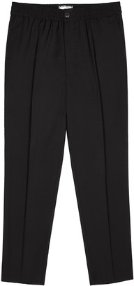 Ami Black cropped wool trousers