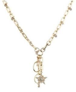 Nicole Miller Large Link Star Charm Necklace