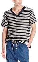 Thaddeus O'Neil Men's Striped V-Neck Top