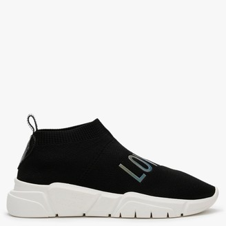 Love Moschino Contrast Black Stretch Knitted Trainers