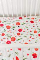 Little Unicorn Poppy Fitted Crib Sheet