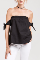 J.o.a. Black Off Shoulder Top