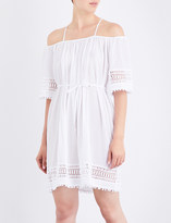 Seafolly Casablanca cold-shoulder cotton-gauze dress