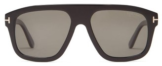 Tom Ford Thor Flat-top Acetate Sunglasses - Black