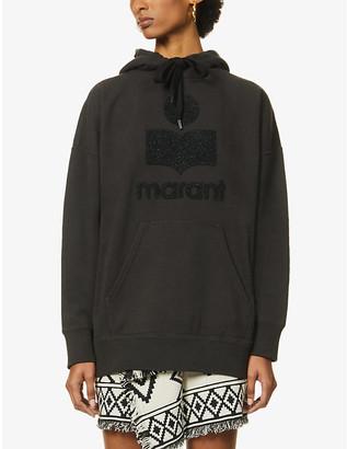 Etoile Isabel Marant Mansel logo-embroidered cotton-blend hoody
