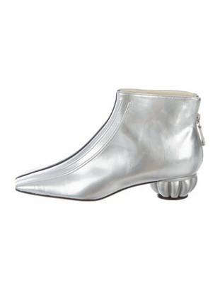 Chanel 2012 Leather Boots Metallic