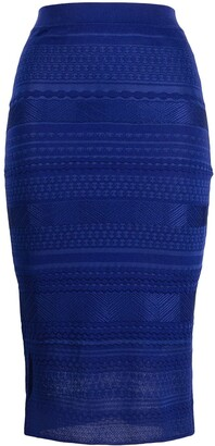 Missoni Embroidered Knitted Pencil Skirt