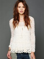Free People Lace Tier Top