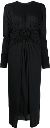 Dolce & Gabbana Front-Tie Midi Dress