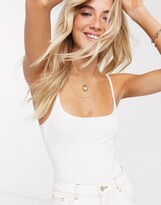 Free People strappy basique bodysuit in white