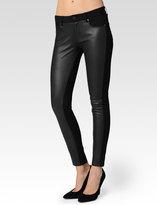 Paige Emily Pant - Black Leather & Ponte SKU 1847389-1086 W1086