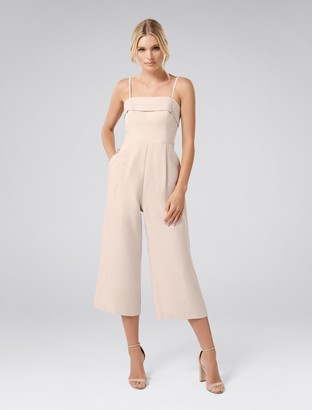 Forever New Willow Strapless Metallic Jumpsuit - Pink - 8