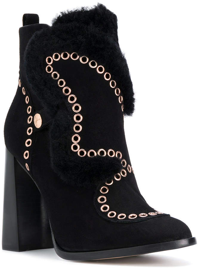 Sophia Webster Karina shearling lined ankle boots