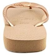 Havaianas Top Women Open Toe Synthetic Bronze Flip Flop Sandal.