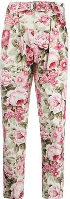 P.A.R.O.S.H. Floral Print Trousers