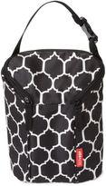 SKIP*HOP® Onyx Tile Grab & Go Double Bottle Bag in Black/White