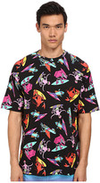 Love Moschino Alien Surfer Print Over Fit Tee