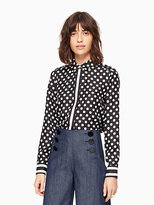 Kate Spade Dot stripe silk shirt