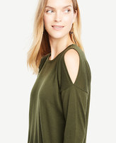 Ann Taylor Extrafine Merino Wool Cold Shoulder Sweater