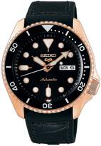 Seiko 5 Sports Sports Stainless Steel Silicone Leather-Strap Watch
