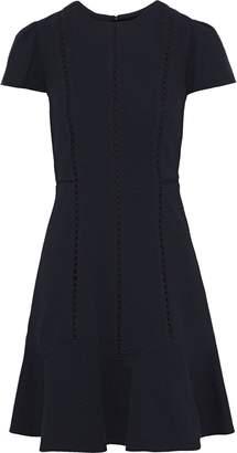Rebecca Taylor Crochet-trimmed Matelasse Mini Dress