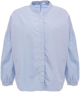 Stateside Gathered Cotton-poplin Shirt