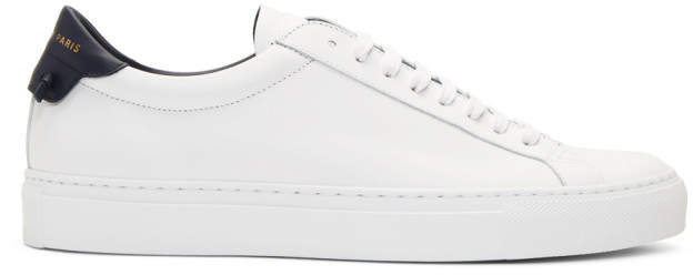 Givenchy White and Navy Urban Street Sneakers