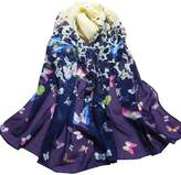 Tonsee Durable Butterfly Printed Flower Soft Muffler Chiffon Scarf Wrap Shawl