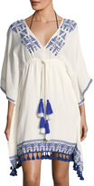 Gypsy 05 Embroidered Dolman-Sleeve Coverup